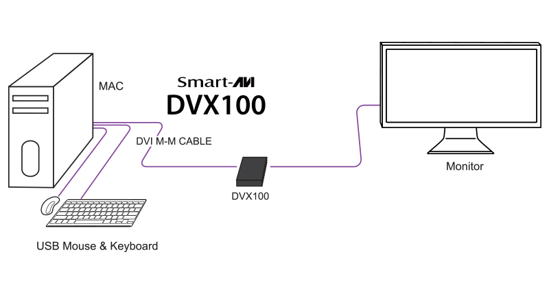 DVX-100 dvi extender diagram