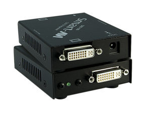 7bbcefac78a Extend DVI video signals' effective range by 50 feet over CAT5 cabling.
